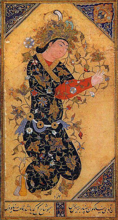 A Kneeling Man by Kamal-ud-din Behzad,lived c. 1450-c. 1535