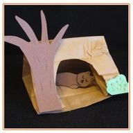 Winter Snooze - Cute craft about hibernation #Cake