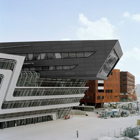 Zaha Hadid Architects - library and learning centre for the University of Economics & Business in Vienna, Austria.