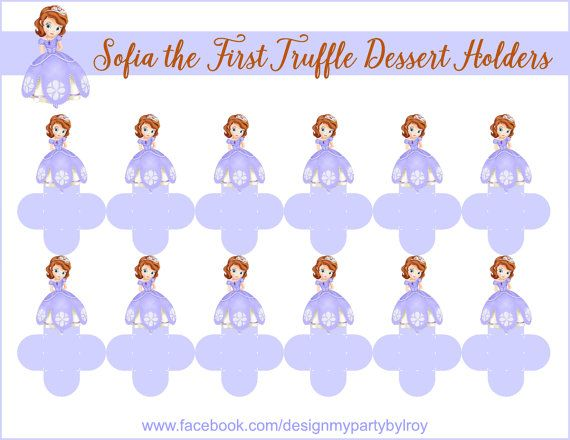 SOFIA THE FIRST Dessert Holders, Sofia the First Party Decor, Sofia  the First Chocolate Cups, Sofia the First Party Favors, Sofia the First. #sofiathefirst #partyfood