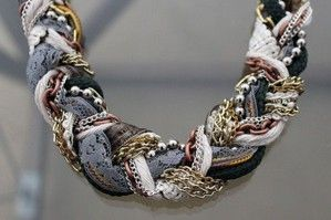 вязаное ожерелье коса - Поиск в Google