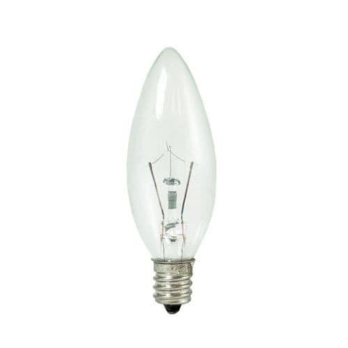 Bulbrite 460020 Pack of (10) 25 Watt Dimmable B8 Shaped Candelabra (E12) Base Xenon / Krypton Bulbs, White