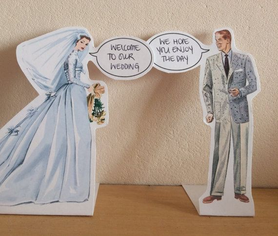 Quirky wedding bride and groom quote place by PapersmithDesign