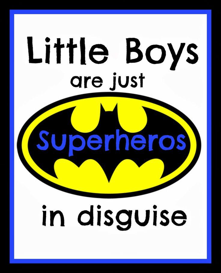 Free Superhero printable
