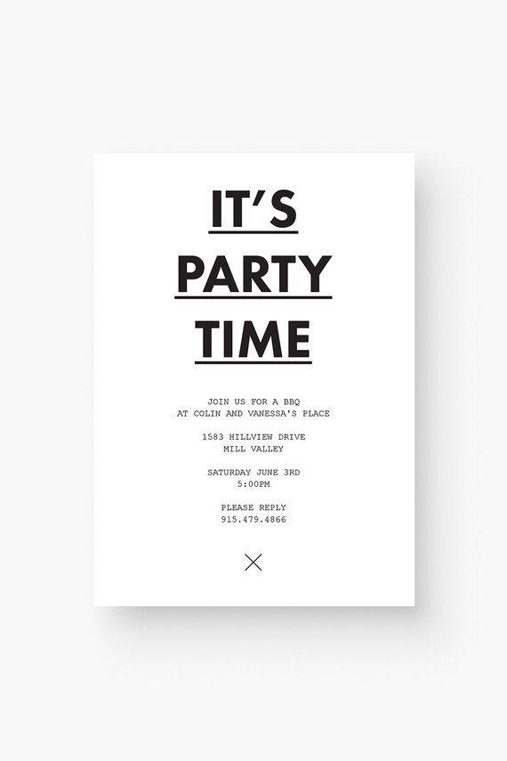 Minimalist Invitation Template Printable Minimalist Invitation