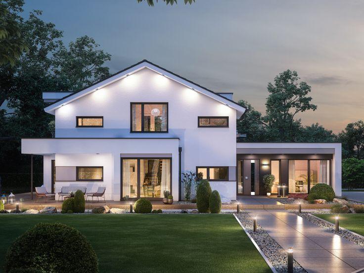 Cute Modernes Fertighaus mit B ro Anbau Haus Concept M Bien Zenker Einfamilienhaus bauen