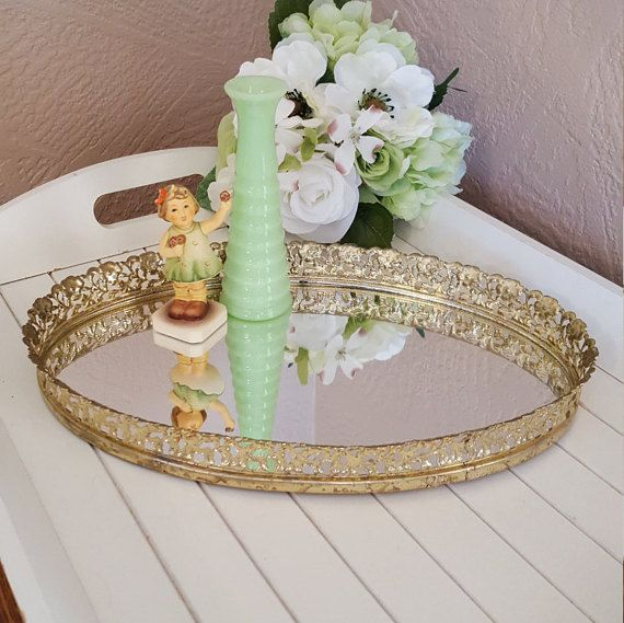 1000 Ideas About Circle Mirrors On Pinterest: Perfume Tray, Modern Wine Glasses And Vanity Tray
