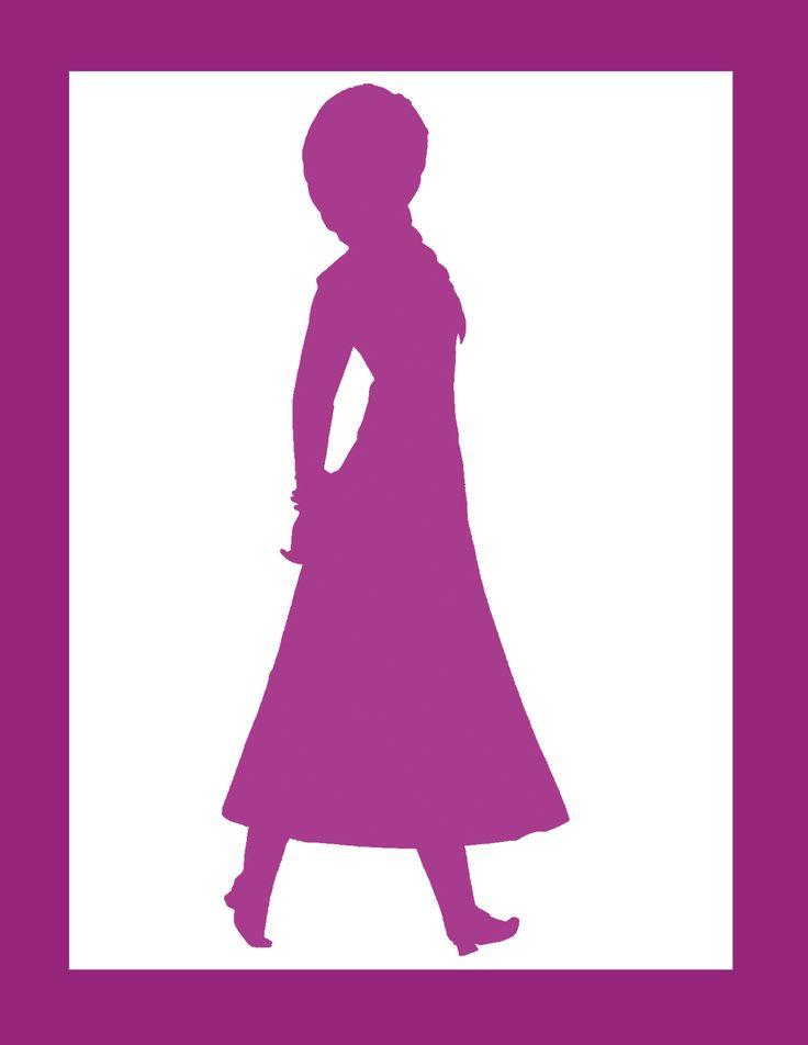Anna silhouette   Frozen Party   Pinterest   Frozen, Anna ...