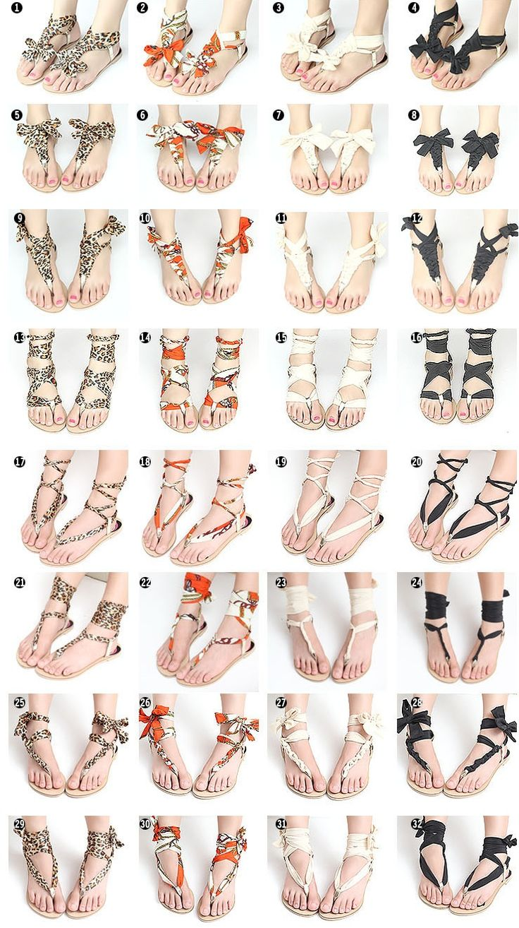 diy scarf wrap sandals