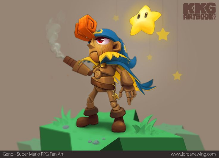 Geno, Super Mario RPG, by Jordan Ewing