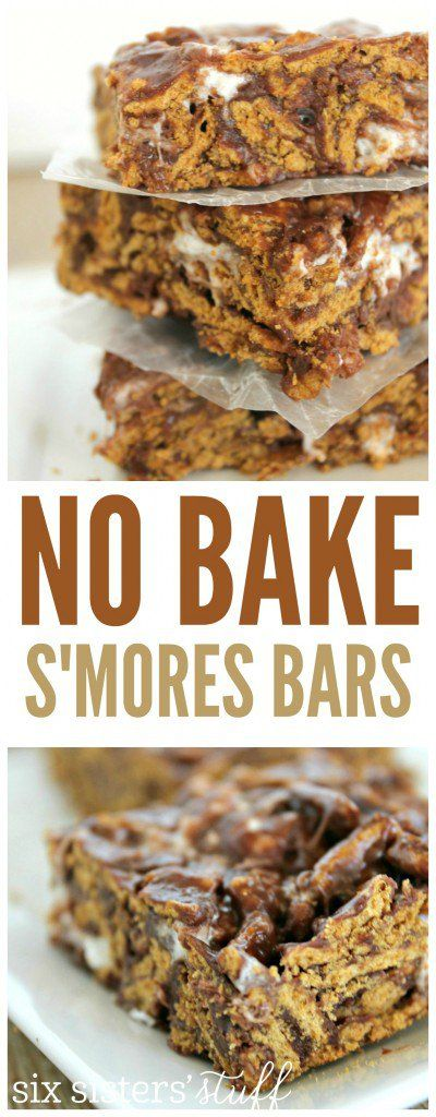 No bake s'mores bars recipe to take on a summer picnic or camping.
