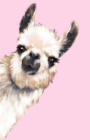 'Sneaky Llama' Poster by bignosework 356