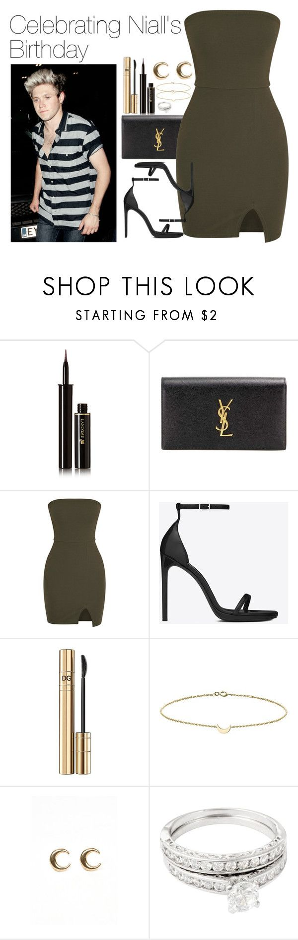 """""""Celebrating Niall's Birthday"""" by onedirectionimagineoutfits99 ❤ liked on Polyvore featuring Lancôme, Yves Saint Laurent, D&G, Minor Obsessions, LowLuv and Simply Silver"""