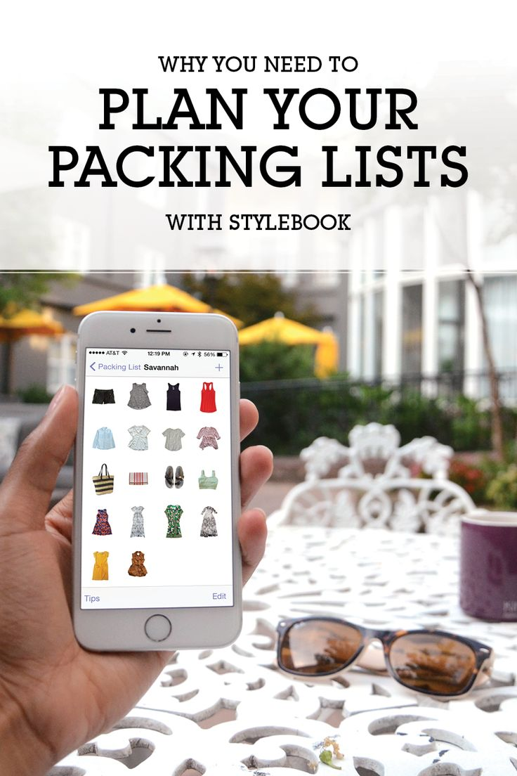How to create a packing list with photos of your clothes with the app Stylebook