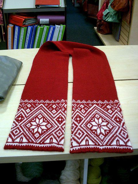 Ravelry: Norwegian Snowflake Scarf pattern by Todd Gocken
