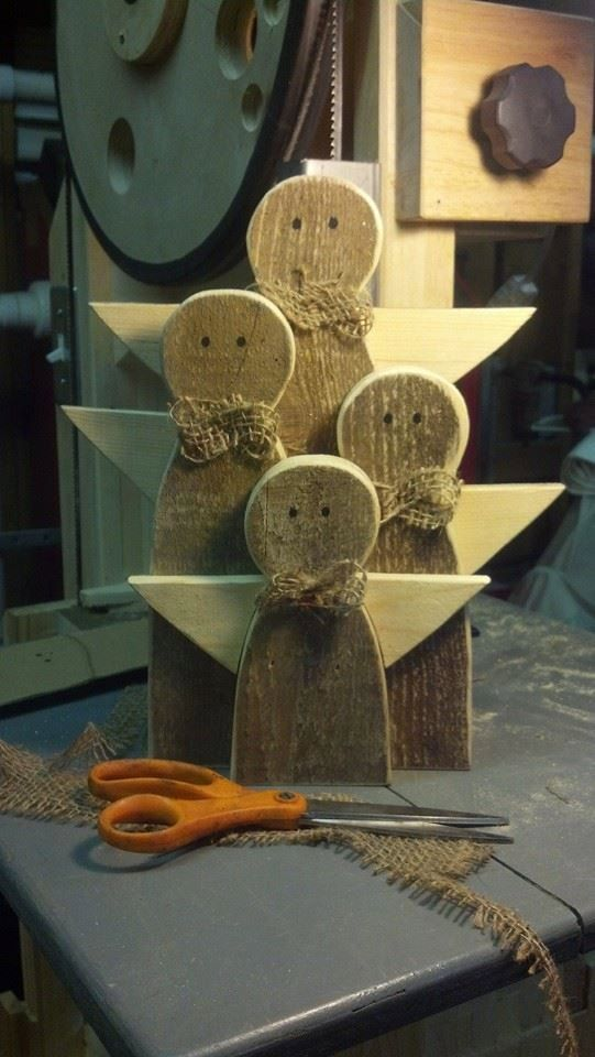 Hand crafted Rustic Wooden Angel Family by TheWoodmen on Etsy