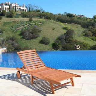 Shop for Wood Outdoor Single Chaise Lounge. Get free shipping at Overstock.com - Your Online Garden