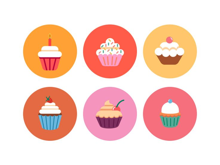 Bakery Cupcake Icons by Dighital #Design Popular #Dribbble #shots
