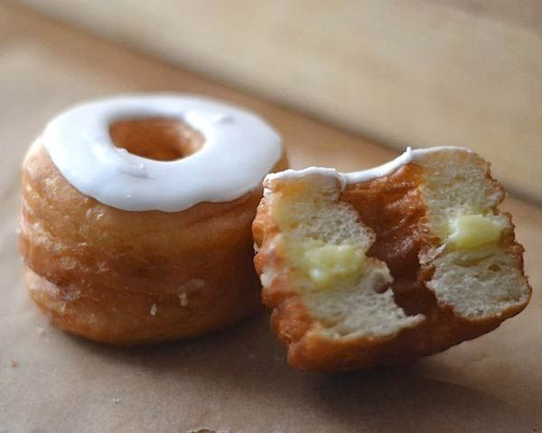 Cronut  What could be better than taking your first satisfying bite of a homemade cronut? Like the original cronut, our version had buttery layers of dough filled with vanilla cream and glazed. Skipping the hectic bakery lines and enjoying a cronut at home is a sweet way to start the day.