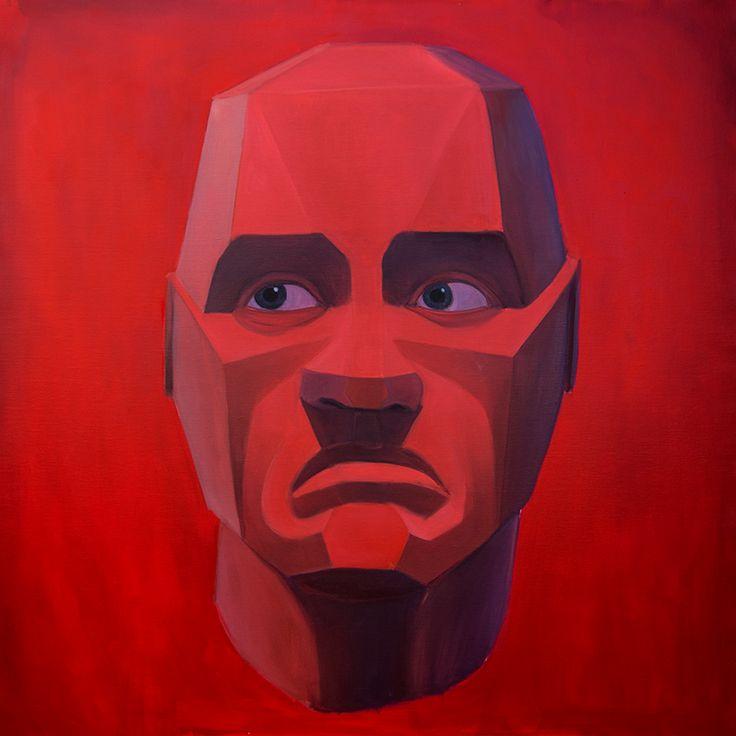 A není na nás abychm je soudili, Oil on canvas, 100x100cm