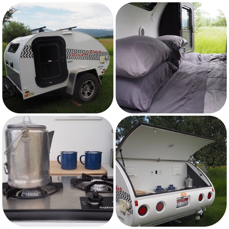 """Welcome to your next Grand Teton camping experience! The Little Guy camper is a new amenity we offer here at the Dreamcatcher Bed and Breakfast! Get ready to """"rough-it"""" in comfort."""
