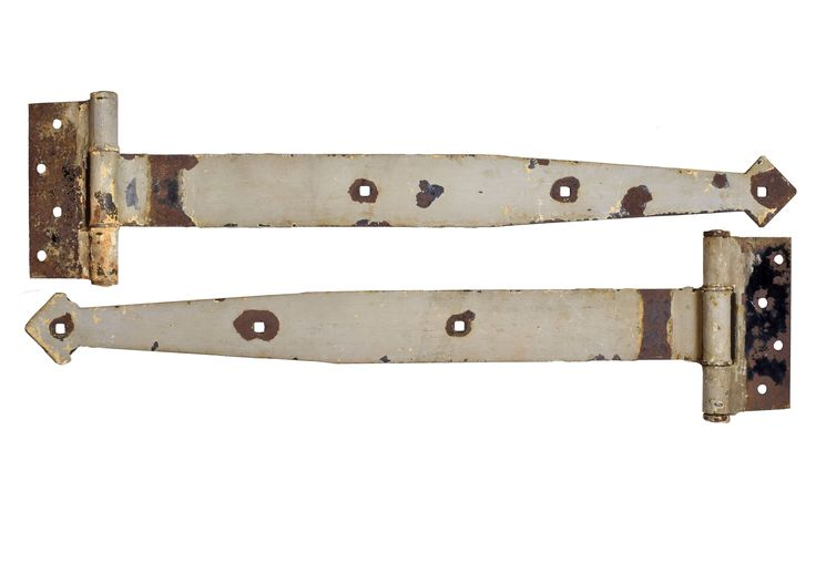 Buy Extra Large Iron Strap Hinges by Architectural Antiques - Limited Edition designer Accessories from Dering Hall's collection of Industrial Decorative Objects.