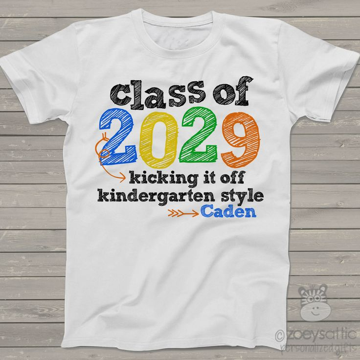kids school shirt, kindergarten class of personalized t-shirt