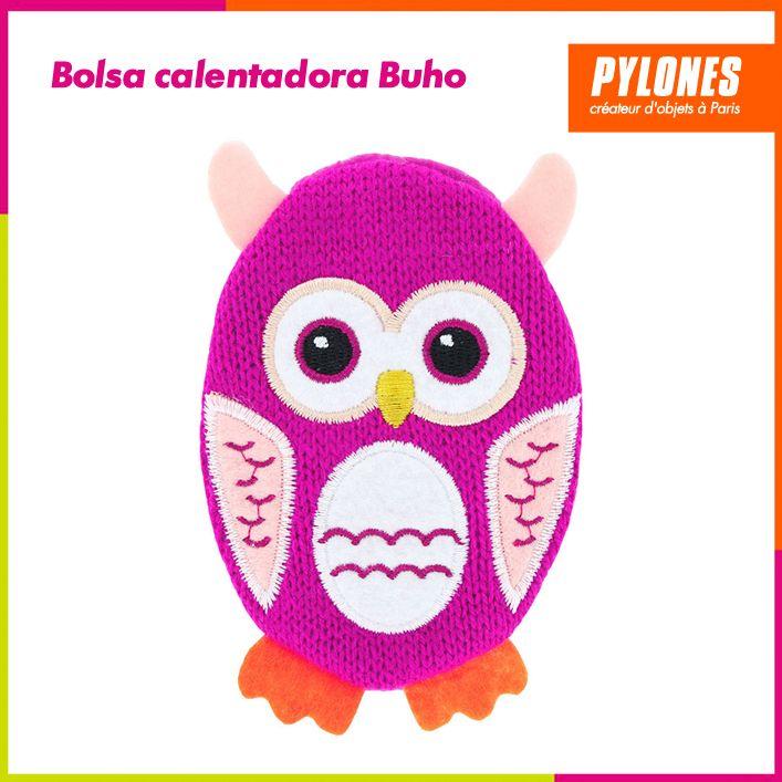 Bolsa calentadora de manos Búho rosado #Regalos #Novedades @pylonesco