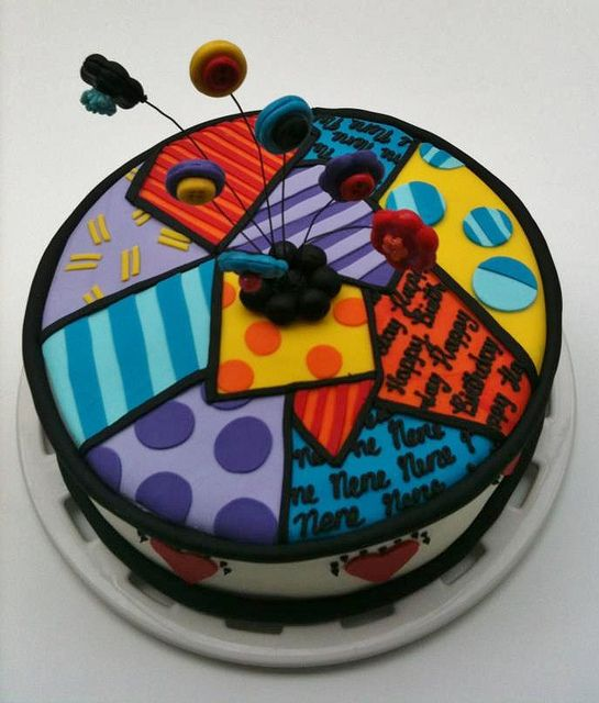 Birthday Cake, Inspitred by Romero Brito Art