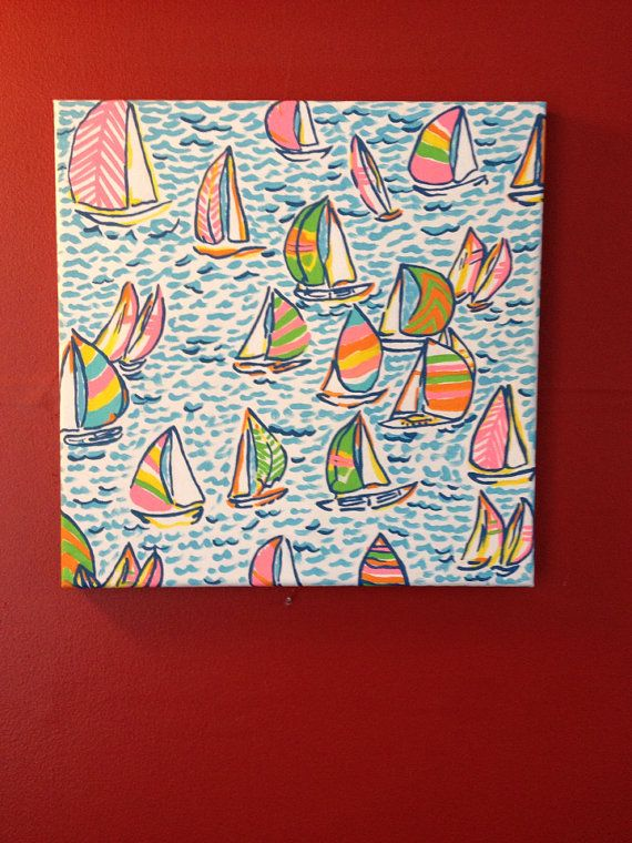Lily Pulitzer Sailboat Painting by APassionforPainting on Etsy, $22.50