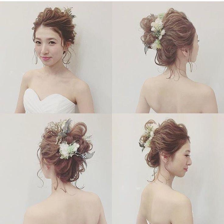 tatarika〜ミントグリーン/モーニングイエロー〜をご注文頂いた @___ymgcakn サマ… なんて可愛いアレンジ♡ こんな飾り方もあるんだって、勉強になりました… ありがとうございました(Pq'v`*) #ウェディング#wedding#ウェディングヘア#ブライダル #bridal #ブライダルヘア #結婚式#結婚式ヘア#結婚式セット#結婚式準備#ヘアアレンジ #ヘアセット #プリザーブドフラワー #ヘッドドレス #プレ花嫁 #ウェディングニュース#リースブーケ
