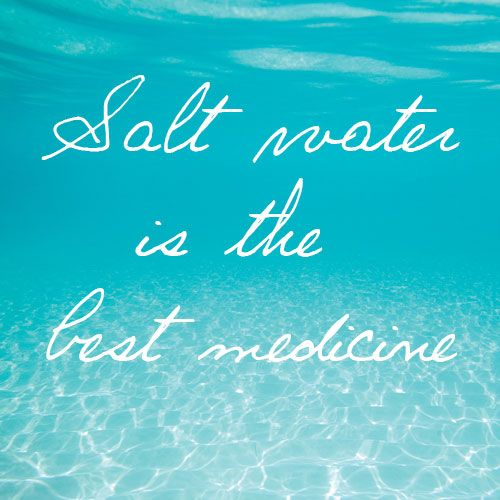 Absolutely. Seasalt is widely known as a purifier of negative energy. Swimming in the salty sea cleanses the spirit and refreshes the mind and body.