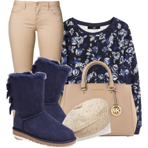 A fashion look from October 2014 featuring H&M sweatshirts, ONLY jeans and UGG Australia boots. Browse and shop related looks.