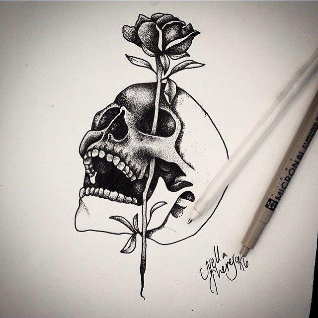 Tattoos, Skull Rose Tattoos, Tattoo