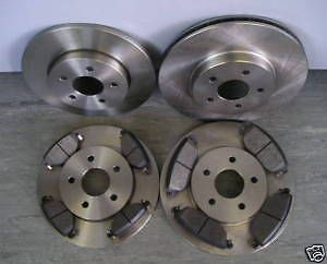 FORD MONDEO MK3 2001-2004 COATED FRONT & REAR BRAKE DISCS AND PADS