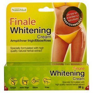 Finale Whitening Cream for Bikini Zone/armpit/inner Thigh/elbow/knee , 30g by Finale. $14.99. Finale whitening cream helps brightening of underarm, groin area. Lightens dark spot while removing dead skin cell gradually within 4 weeks. High quality natural and botanical ingredients have been carefully blended and specially formulated with skin lightening agents and multivitamin, boost skin clarity and tone, protect against oxidative damage, moisture loss and make your sk...