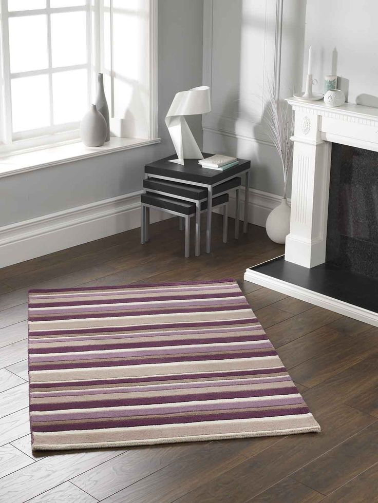 Modern Striped Rug for an enhanced visual appeal. #stripedrugs #largerugs #woolrugs #purewoolrugs #modernrugs #handloomedrugs
