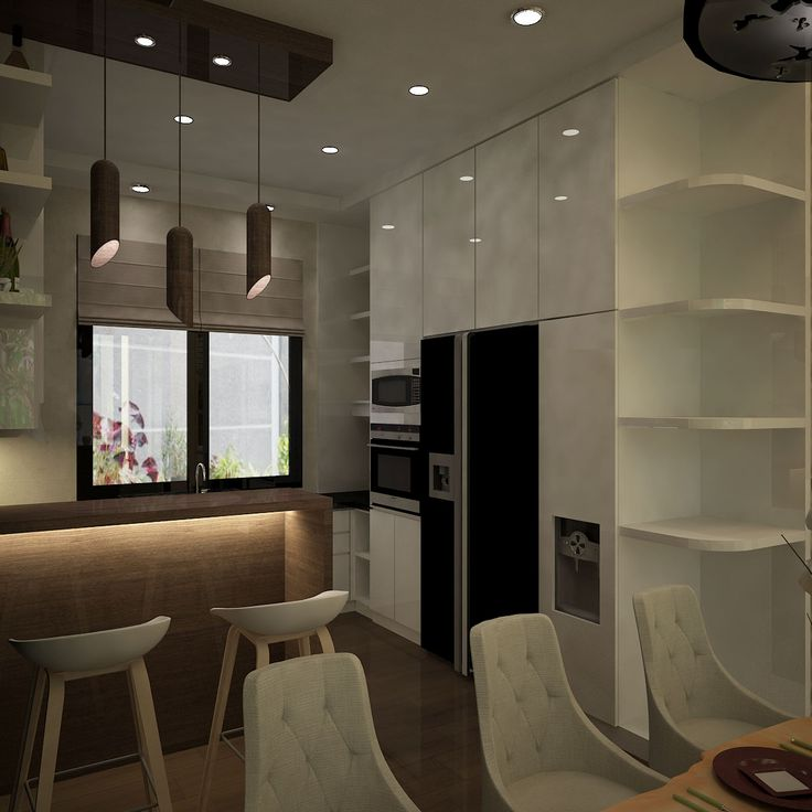 House Project Interior Design at East Jakarta 2015 Dining Area Kitchen