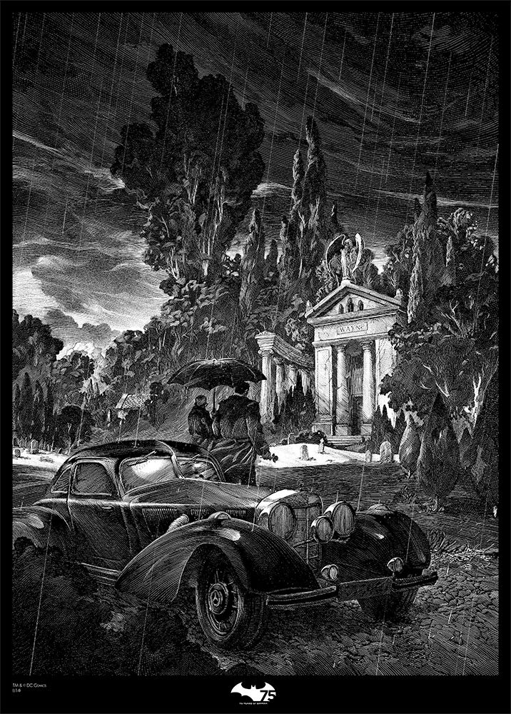 Nicolas Delort - Illustration. Thomas and Martha Wayne | French Paper Art Club