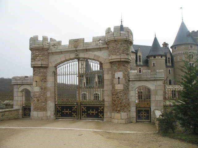 Magnificent castle of the XV and XIX centuries (listed in the inventory of Monuments Historiques- historical monument), Antigny, France