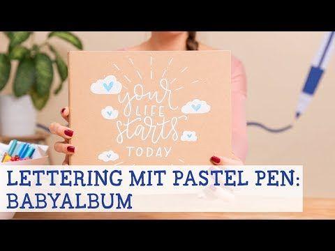 Dawanda Lettering Colouring Youtube Babyalbum Lettering Album