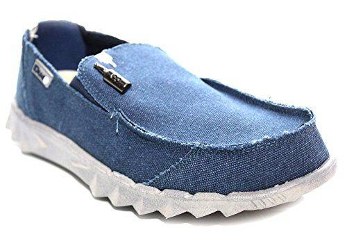 Hey Dude Farty - M0354C - Herren - Sneaker Leinen - Blau - UK8 EU42 - http://on-line-kaufen.de/hey-dude/42-eu-8-uk-hey-dude-farty-m0354c-herren-sneaker-blau