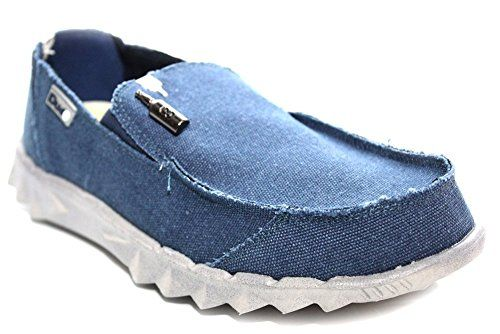 Hey Dude Farty - M0354C - Herren - Sneaker Leinen - Blau - UK7 EU41 - http://on-line-kaufen.de/hey-dude/41-eu-7-uk-hey-dude-farty-m0354c-herren-sneaker-blau