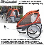 2012 Chariot Corsaire 2 Child Bike Trailer (Corsaire2 CTS Chassis w/ CTS Cycling Kit Included) - Touring Chariot Carriers Double Baby Joggers, Strollers, Trailers & Ski Pulks