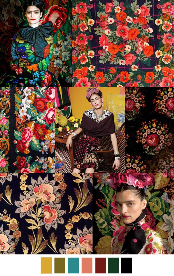 love these flowers!!!!! and frida kicks ass so that's all around amazing. KAHLO y CALDERON | pattern curator