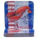 Maritime Lobster Salad and Dessert Plate (Set of 6)
