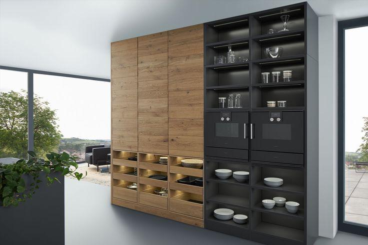 Wildhagen | Zwarte design keuken met hout van LEICHT