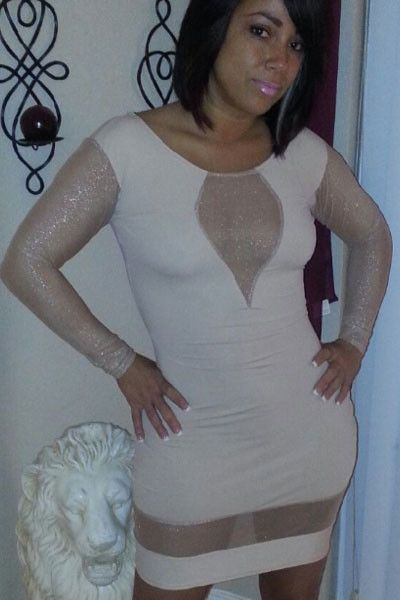 Chicloth White Bodycon Dress with Spun Silver Sleeves