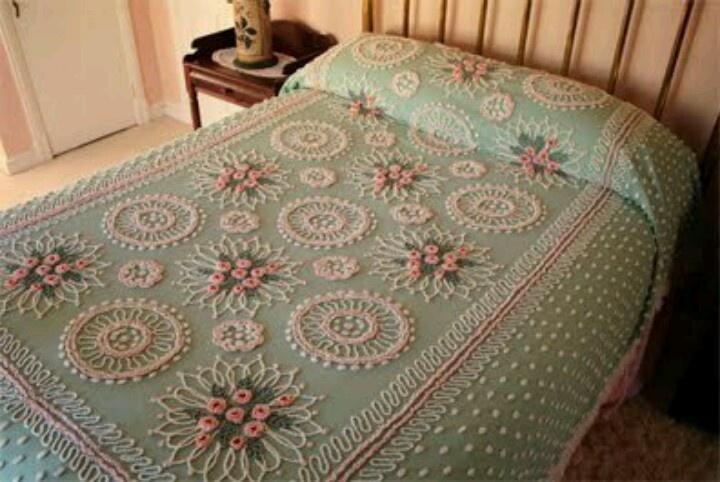 Vintage Bedspread Chenille Bedspreads Pinterest