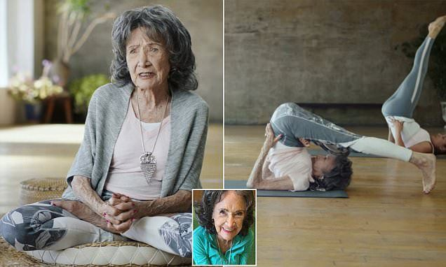 'The joy of living is right inside you': World's oldest yoga instructor, 98, shares the mantras she swears by - after teaching for more than 75 YEARS